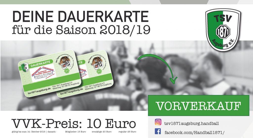 Vorverkauf Dauerkarte Saison 2018/2019