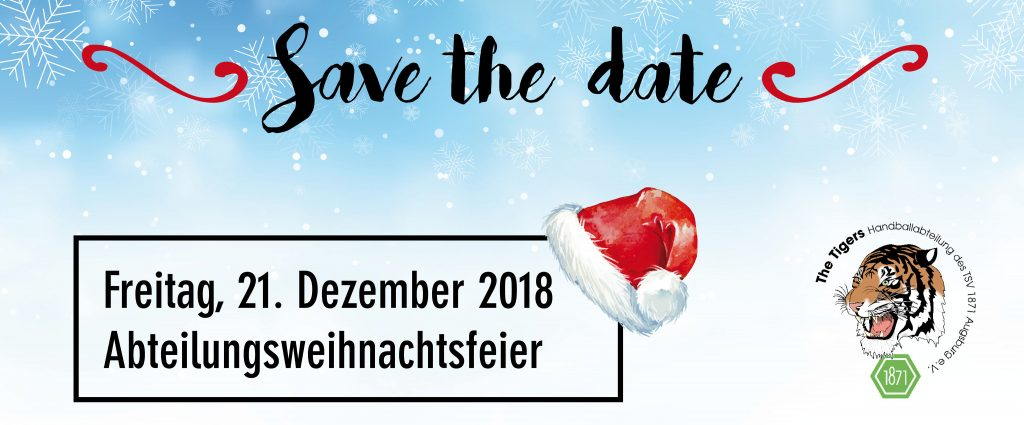 Save The Date Weihnachtsfeier.It S Christmas Time Tsv 1871 Augsburg E V